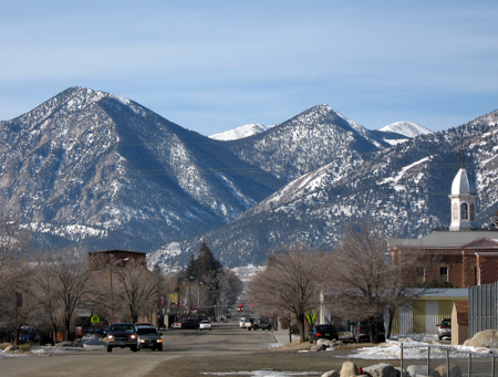 Looking west on Main Street in Buena Vista, Colorado